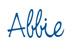 Abbie Signature